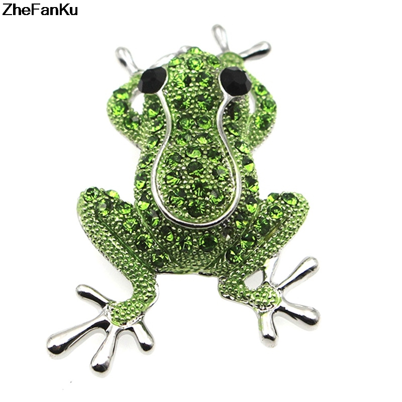 1e3656358 Rose Gold Color Zinc Alloy Rhinestone Animal Frog Brooch Female Creative  Cartoon Corsage Wild Frog Brooches Pins For Women & Men