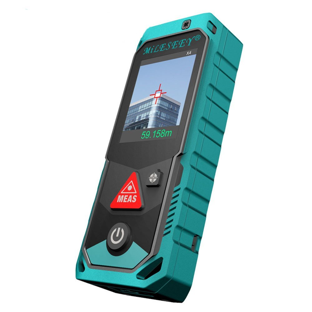 Handheld Multi-measuring Laser Rangefinder Bluetooth Rotational Touch Screen Distance Meter 40M Rechargeable Angle Sensor IP65 kaman mk 60 1 8 lcd handheld laser distance meter rangefinder black red multi colored