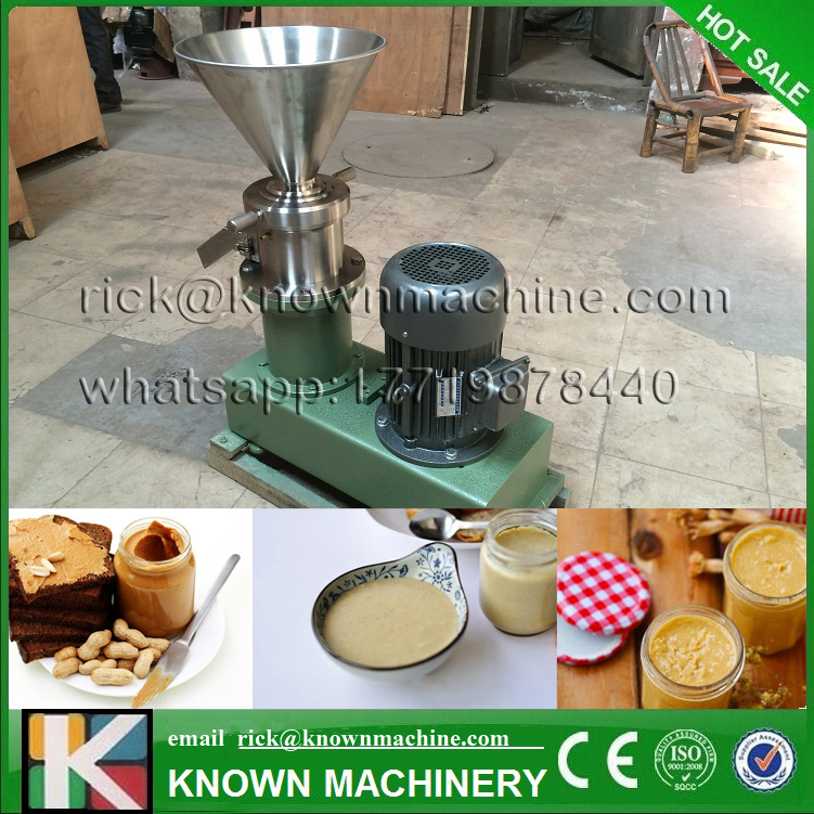 2017 hot sale KN-S80 superfine grinder colloid mill for grinding chili sauce, peanut butter, sesame paste with CE certified food pharmaceutical industry stainless steel seeds peanut butter sesame paste chilli sauce colloid milling machine