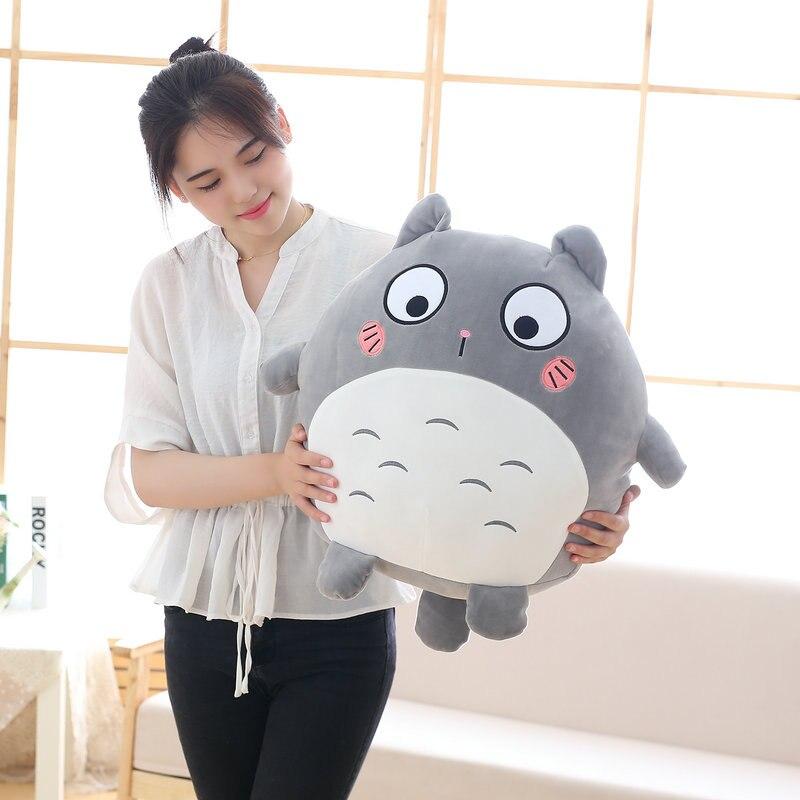 40cm Cute JAPAN Anime Totoro Plush Toy Soft Stuffed Cartoon Figure Pillows Kawaii Emoji Cushion Kids Doll Good Birthday Gift santa clause figure model lovely plush doll soft cute stuffed toy 11 8 inch