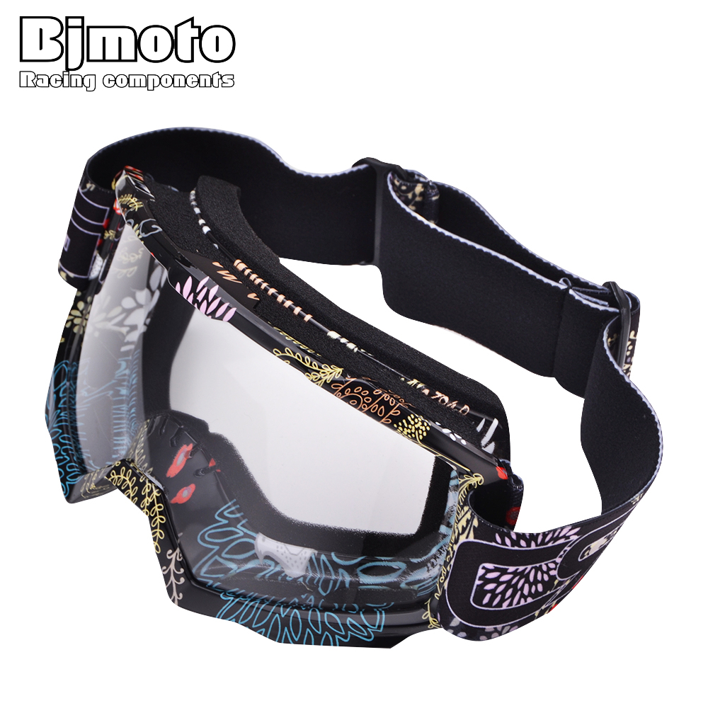 BJMOTO New Oculos Motocross Goggles Glasses Cycling MX off road Helmets Ski Sport Gafas Motorcycle Dirt Bike Racing Goggle