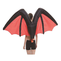 Adult Fairy Costumes Inflatable Bat Wings Decor for Halloween Party Decoration