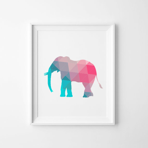 Buy colorful elephant canvas art print for Where to buy canvas art