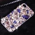 Роскошный Горный Хрусталь Кристалл Алмаза Телефон Случаях Coque Обложка для iPhone 5s 5 SE 6 s 6 7 Plus для Samsung S 5 6 7 край Примечание случае