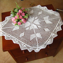 Envío Gratis hecho a mano de ganchillo de encaje gabinete nostálgico vintage recorte tejido sofá toalla cuadrada toalla para decoración del hogar estera