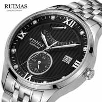 Winner Watch Men Automatic Mechanical Watch Gold Skeleton Vintage Man Watch Mens RUIMAS Watch Top Brand Luxury RS6720G-Blak
