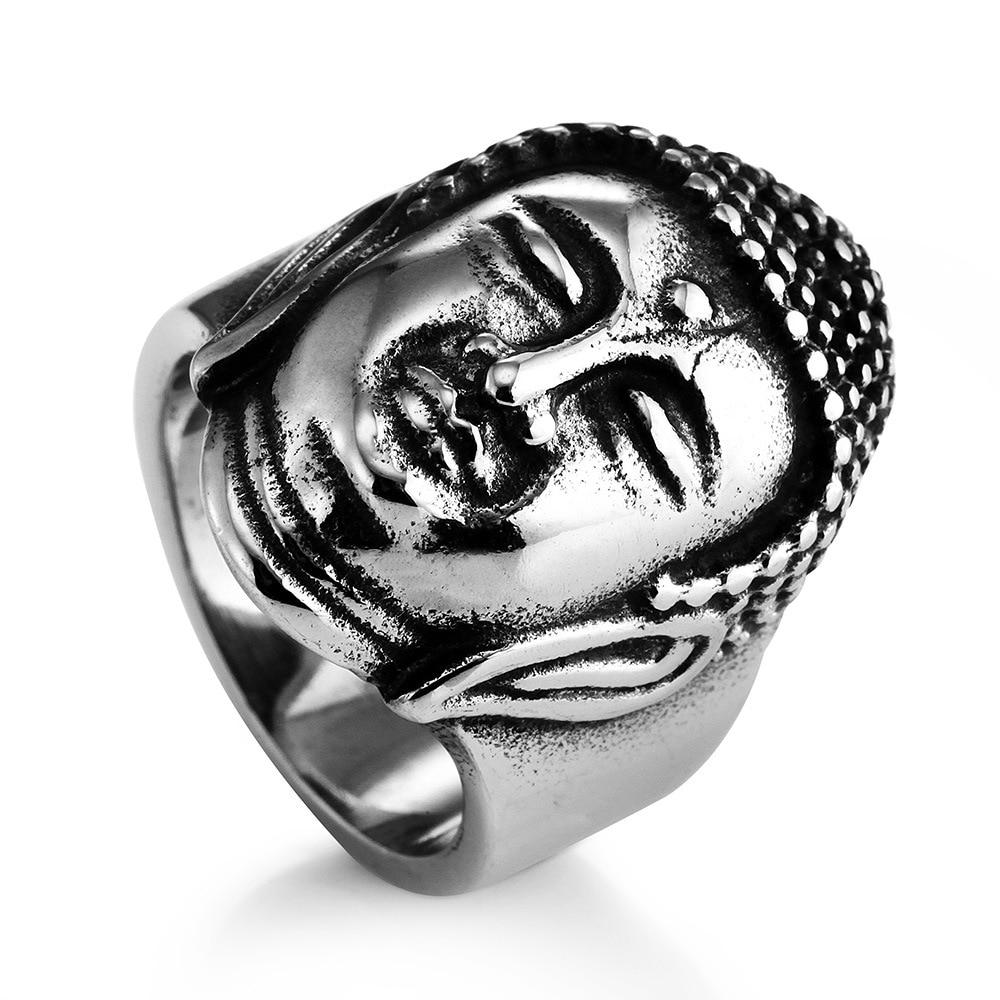 Men's Buddha Stainless Steel Ring 4