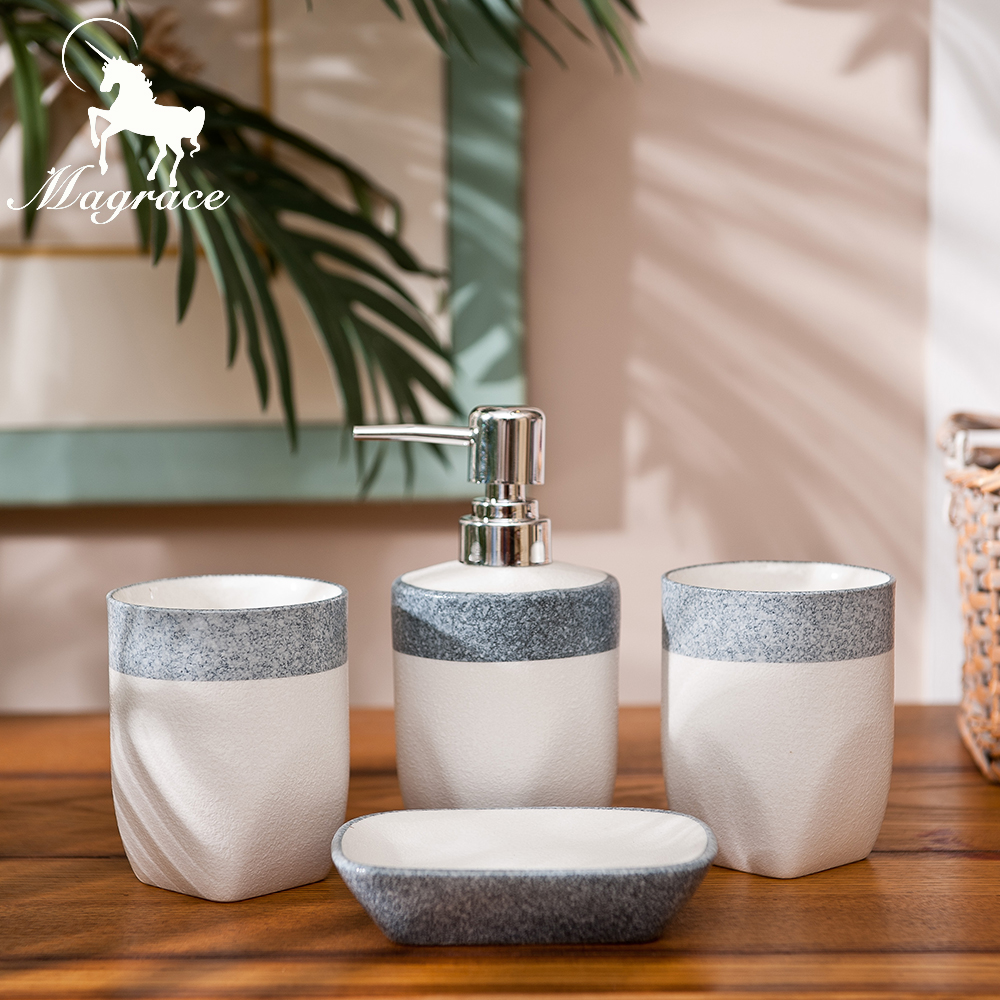Magrace Ceramic Bath Series Bathroom Set Accessory Eco friendly Wash Kit  Square And Round Baby. Online Buy Wholesale bathroom kit sets from China bathroom kit