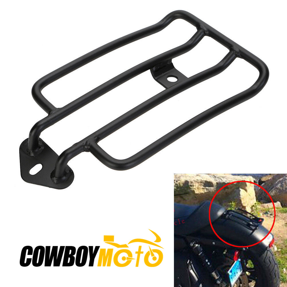 ФОТО Motorcycle Luggage Carrier Rack Solo Seat For Harley Sportster XL883 1200 2004 - 2015 05 06 07 08 09 10 11 12 13 14