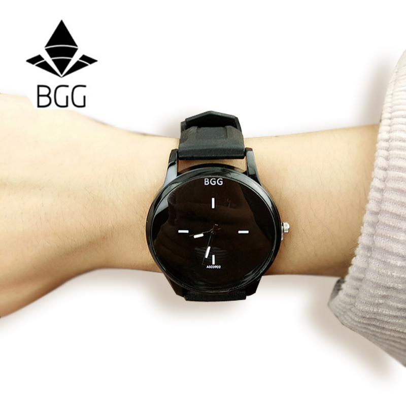 BGG Brand Silicone Quartz Watch Summer Style Women wristwatch Lovers Jelly Casual Watch ladies simple casual Clock hours Reloj original soft silicone strap jelly quartz watch big dial wrist watches for women ladies lovers bgg brand black white woman clock