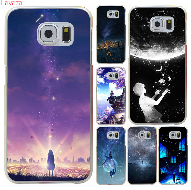 buy popular 9976c 9e412 US $1.99 23% OFF|Lavaza starry day anime Hard Phone Case for Samsung Galaxy  S8 S9 S10 Plus S10e Cover S6 S7 Edge Cases-in Half-wrapped Case from ...