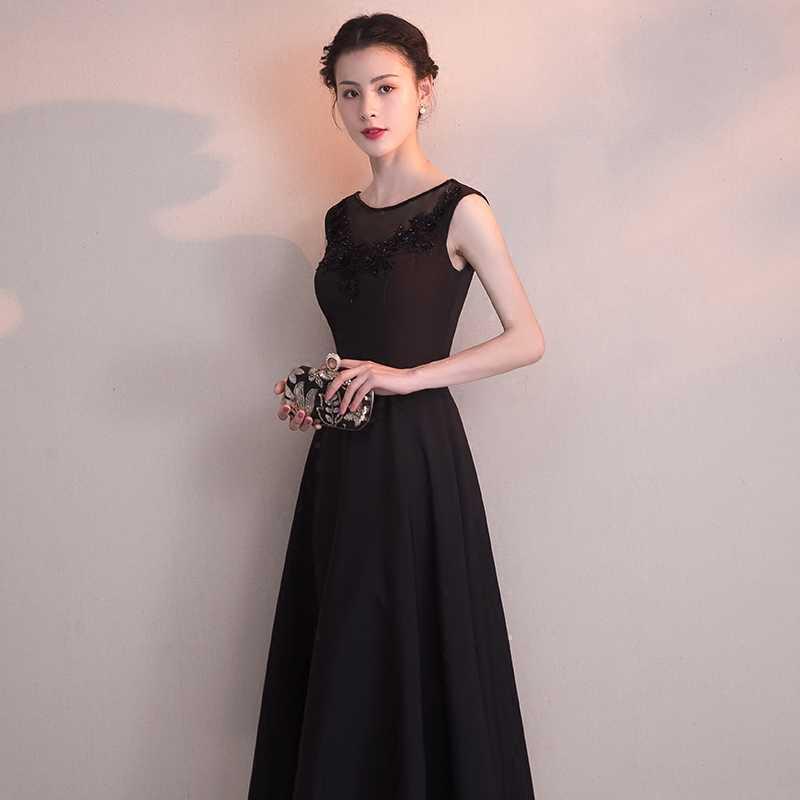 eca19e45b30788c ... CEEWHY Черное вечернее платье Вышитые Короткие вечерние платья из  бисера специальные Нарядное платье вечерние элегантные Vestidos ...
