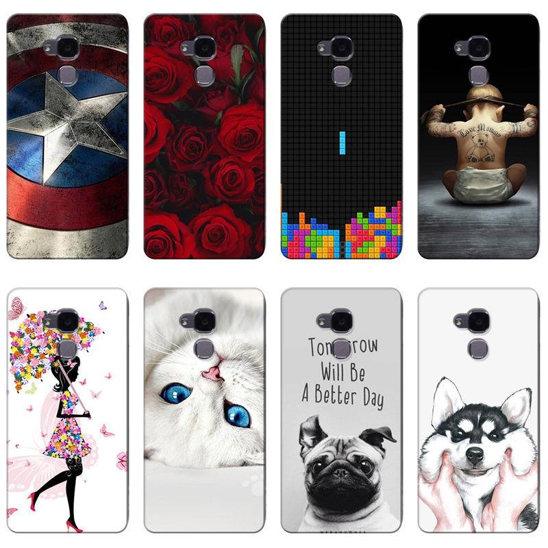 Honor 7 Lite /gt3 Printing Drawing Phone Girls Cover Silicone Soft Case Efficient Good Quality Colorful Cases For Huawei Honor 5c Phone Bags & Cases Fitted Cases