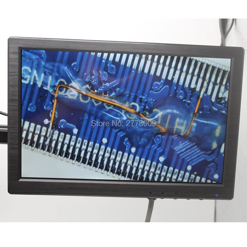 Industrial Digital Microscope Camera Lens Bracket 10-inch HD Monitor HDMI/VGA/BNC/AV Interface Motherboard Maintenance Testing zgynk 10 1 inch open frame industrial monitor metal monitor with vga av bnc hdmi monitor