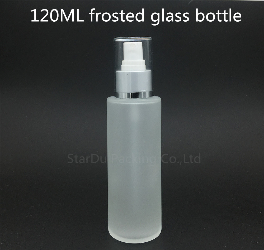 Free Shipping <font><b>120ml</b></font> Glass <font><b>Spray</b></font> <font><b>Bottles</b></font>,120CC Transparent frosted Glass Perfume <font><b>Bottle</b></font> Small Travel Packing Container image