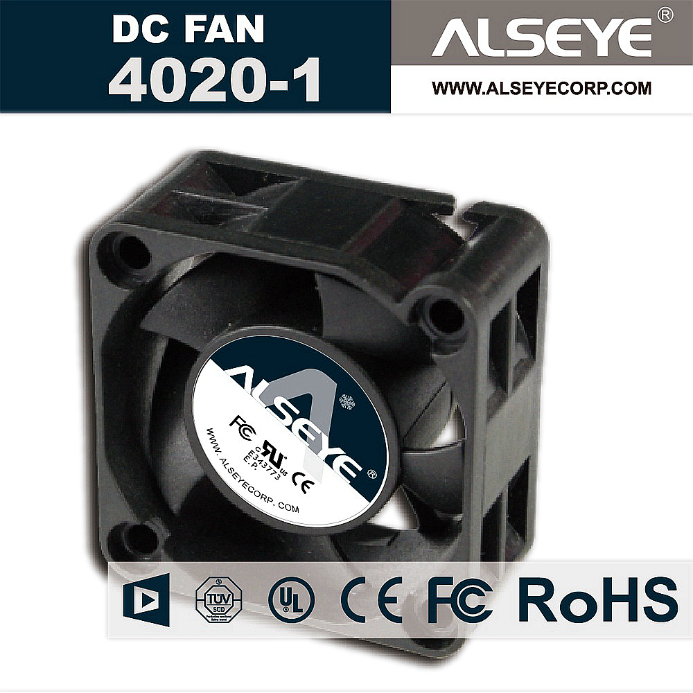 ALSEYE DC 12V Cooling Fan 40mm 0.16A 6000RPM Hydraulic Bearing 4cm Mini Cooler 40 x 40 x 20mm High Quality Fan original nmb 2415fb d4w b86 dual ball bearing fan 12v 1 52a high power cooling cooler