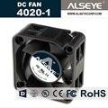 Alseye 4020 dc ventilador de refrigeração 12 v 0.16a 6000 rpm rolamento hidráulico mini refrigerador 40mm ventilador do radiador 40x40x20mm alta qualidade fã