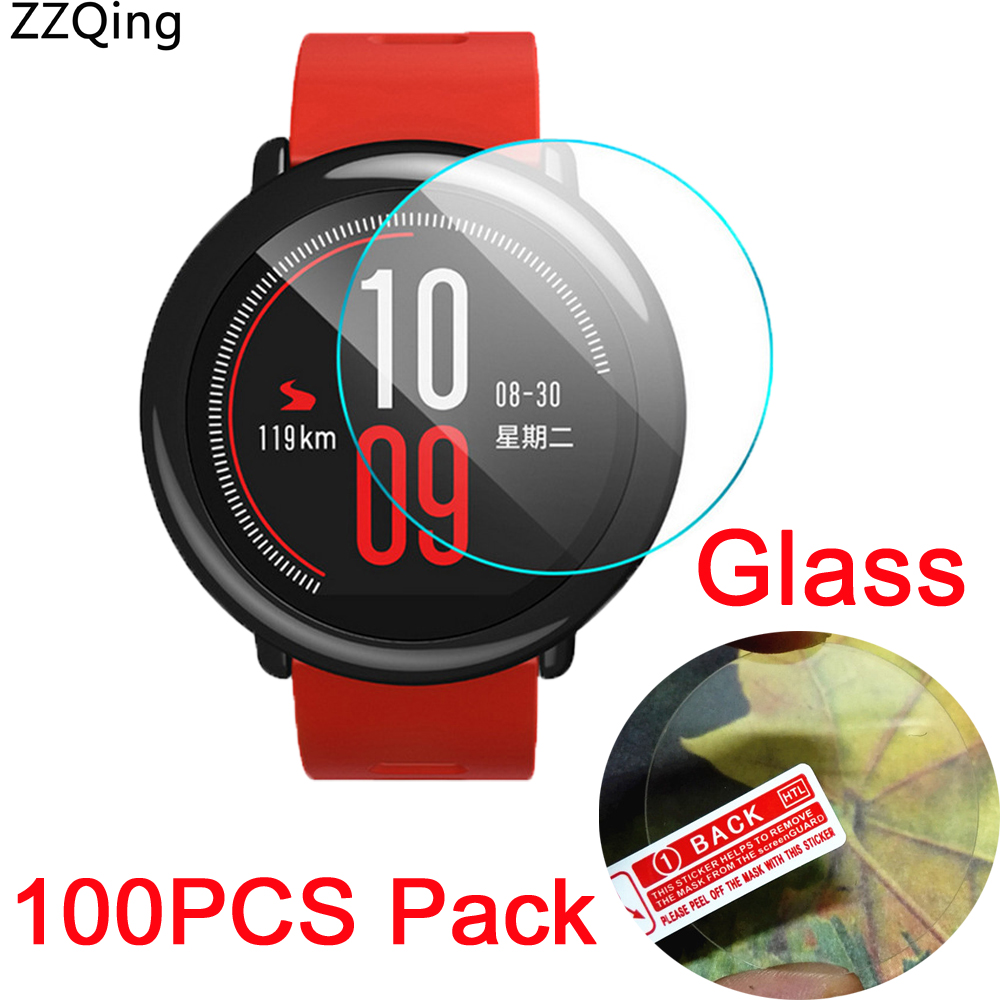 100PCS Pack For Xiaomi Huami Amazfit Pace Glass Tempered 9H Explosion Proof Guard Screen Protector Film