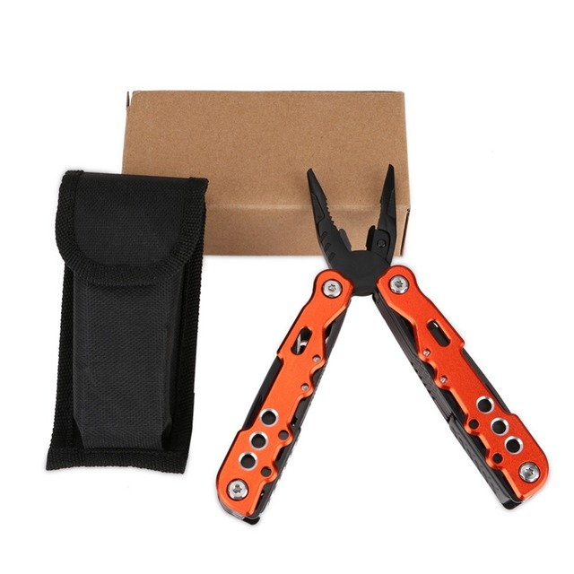 Orange Swiss Multi Tool With Belt Holder. Large Yet Slim, Ergonomic to Carry & Hard Wearing, Essentials Include, Pliers, Screwdrivers, Wire Cutters, Tin & Bottle Opener