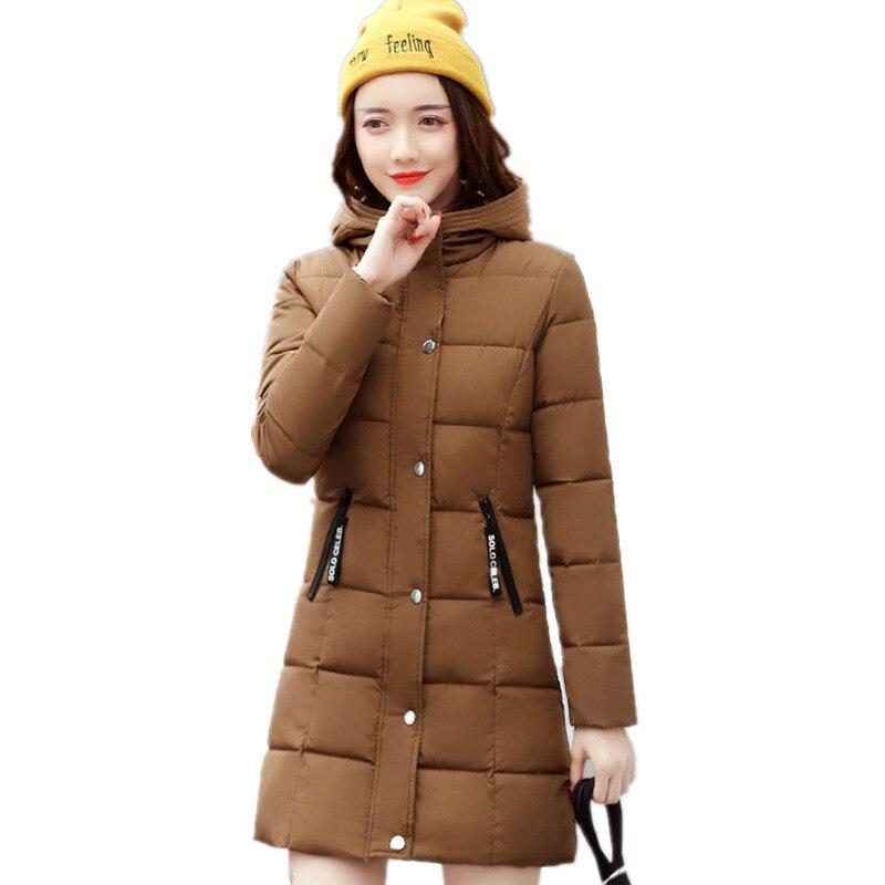 Plus Size Hooded Winter Wadded Coat Female Medium-long Cotton Parka Padded Jacket Women Loose Casual Warm Outerwear TT3120