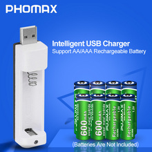 PHOMAX  PJN101 Household portable LED Display With 1 Slot Battery Charger For AA/AAA NiCd NiMh Rechargeable Batteries