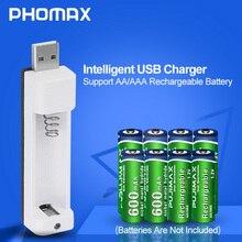 PHOMAX pantalla LED portátil PJN101 para el hogar, cargador de batería con 1 ranura para AA/AAA NiCd NiMh, cargador de pilas recargables