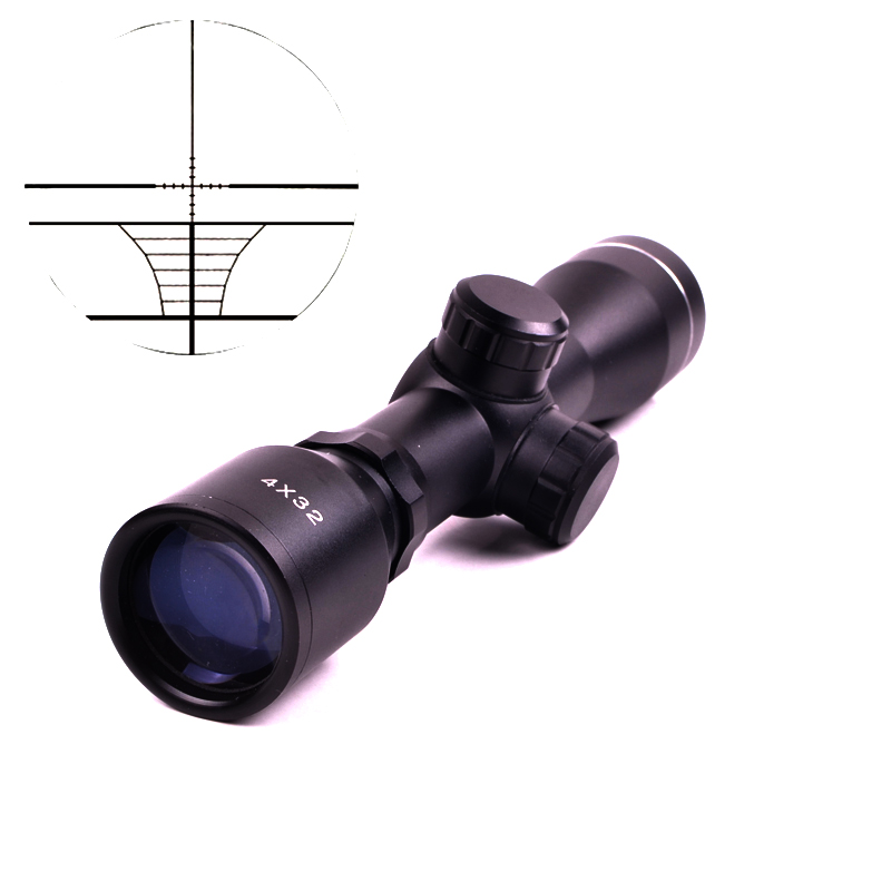 Tactical 4X32 Air Rifle Optics Sniper Scope Compact Riflescopes hunting scopes with 20mm/<font><b>11mm</b></font> Rail mounts