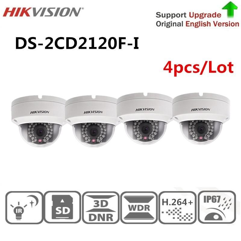 Original Hikvision Surveillance Camera DS-2CD2120F-I 2.0 MP Fixed Dome IP Camera 1080P POE CCTV Camera SD Card English Version