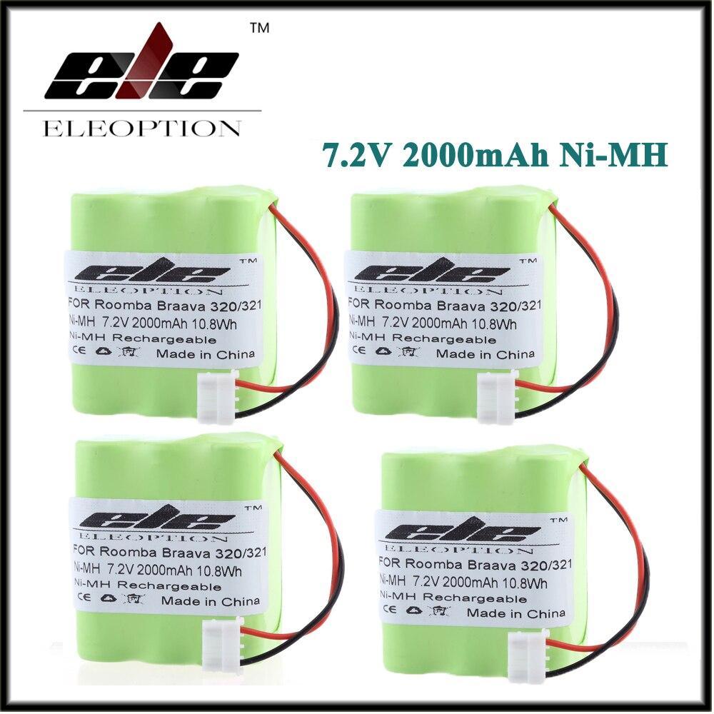 4 шт. ELEOPTION 2000 мАч Батарея для iRobot Braava 320 <font><b>321</b></font> и мяты 4200 4205 робот-пылесос 4408927