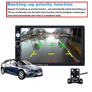 """Image 4 - Podofo autorradio 2 din con pantalla táctil HD de 7 """", función Mirrorlink, Bluetooth, reproductor Multimedia MP5 estéreo, cámara de visión trasera"""