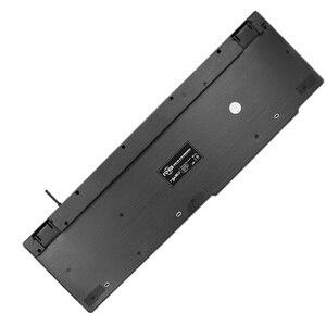 Image 5 - HXSJ R8 רוסית/אנגלית Wired USB צף LED 3 צבע עם תאורה אחורית מקלדת עם דומה מכאני מרגיש עבור teclado
