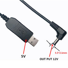 ihens5 Power Converter Adapter Cable USB DC 5V To DC 12V 5.5mm X 2.1 mm DC Barrel Male Connector Jack Power for Car USB lights(China)