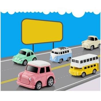 4/8 Uds coches de pista mágica de Color aleatorio coche de juguete eléctrico para carrera en bucle conjunto de pistas de juguete brillantes flexibles para niños H1