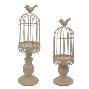 Ornaments Candle-Stand-Holder Birdcage Home-Decoration Creative Desktop