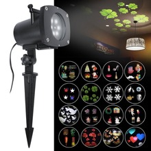 12 Pattern Christmas Projector Light Out door Waterproof Rotating Motion Landscape Spotlight for Xmas Holiday Party Decoration