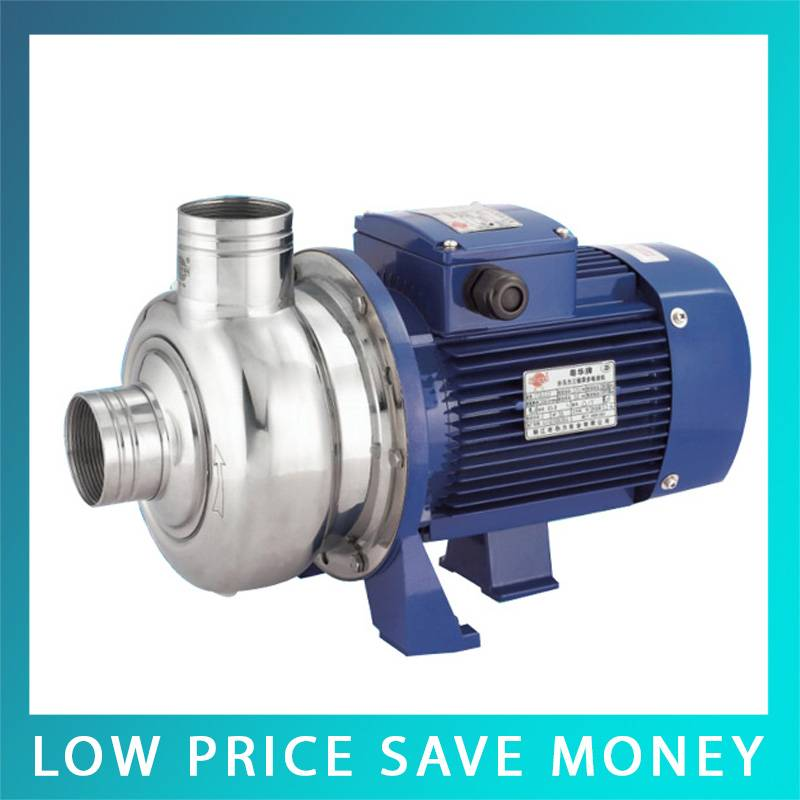 220V Electric Centrifugal Pump Semi Open Impeller Horizontal Stainless Steel Water Pump a woman kneeling in the big city
