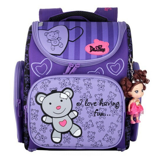 Delune School Bag Kids Children Backpack High Quality 3D Print School Bags for Girls Child Bags Primary School Backpacks  high end kocotree ergonomic elementary school bag books child children backpack portfolio for girls for class grade1 3 free ship