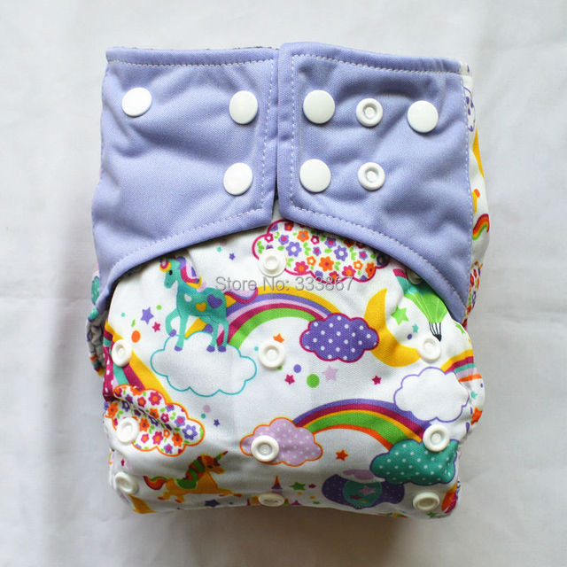 1 Charcoal Bamboo Baby Cloth Diaper Nappy Washable Reusable Rainbow