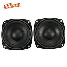 Ghxamp 4 inch 4OHM 50W Subwoofer Speaker Woofer Long Stroke Car audio Home Theater High Power Speaker 2PCS(China)