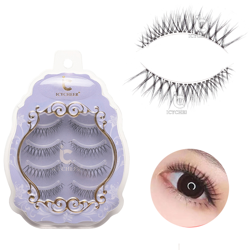 ICYCHEER Air Sensation Makeup Japanese Eyelashes Set Ultra Soft Lightweight  Lashes Extension Eyelash Handmade Nude Look Party