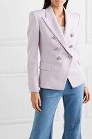 Женский люкс бренд костюм Блейзер 2019 двубортный Deisgn Высокая мода Формальные стиль офисная одежда Professional деловые блейзеры