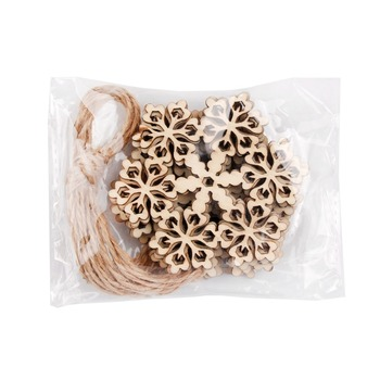 Christmas Tree Ornaments Snowflake Deer Star Bell DIY Wooden Pendants Christmas Party Decor New Year