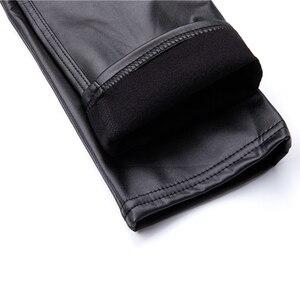 Image 5 - GENPRIOR kobiety podnieś Hip brzoskwiniowe spodnie miękkie szczupłe PU czarne legginsy wysoki elastyczny długi, obcisły skórzane spodnie spodnie ołówkowe na co dzień