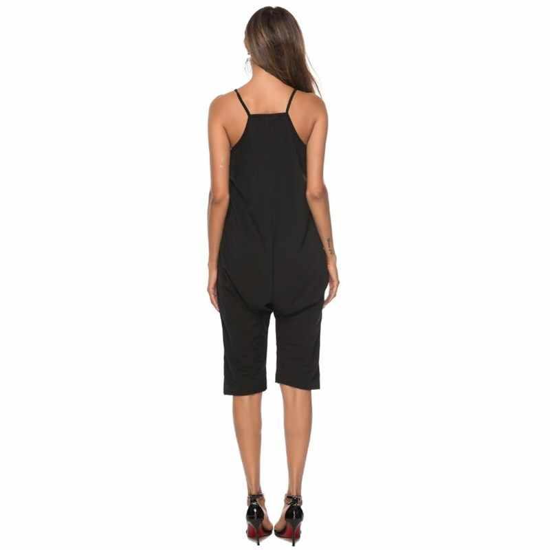 Плюс размеры черный комбинезон одна деталь средства ухода за кожей для женщин боди Дамы 2019 уличная одежда короткий