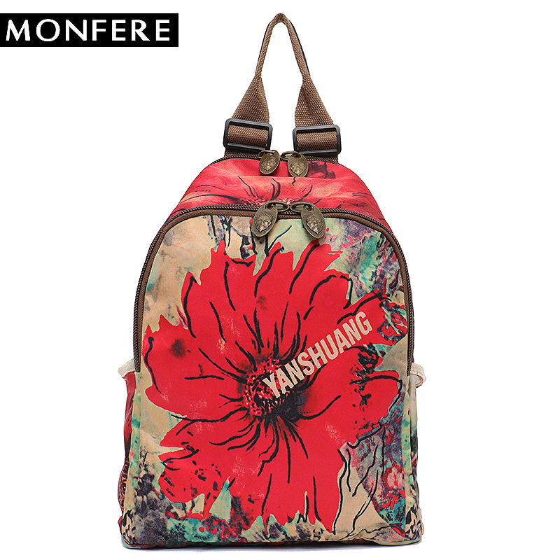 MONFERE Femmes sac à dos épaule Bandoulière Sac Microfibre Fille En Cuir École Peinture Impression De Dessin Animé de Mode décontracté Élégant sac à dos