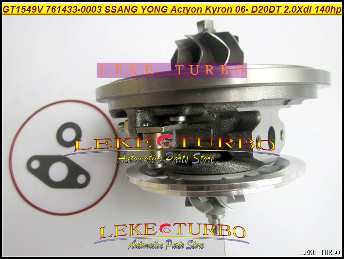 Turbo Cartridge chra GT1549V 761433 6640900880 6640900780 761433-0002 761433-0003 for Ssang Yong Actyon Kyron D20DET D20DT 2.0L gt2556s 711736 711736 0003 711736 0010 711736 0016 711736 0026 2674a226 2674a227 turbo for perkin massey 5455 4 4l 420d it
