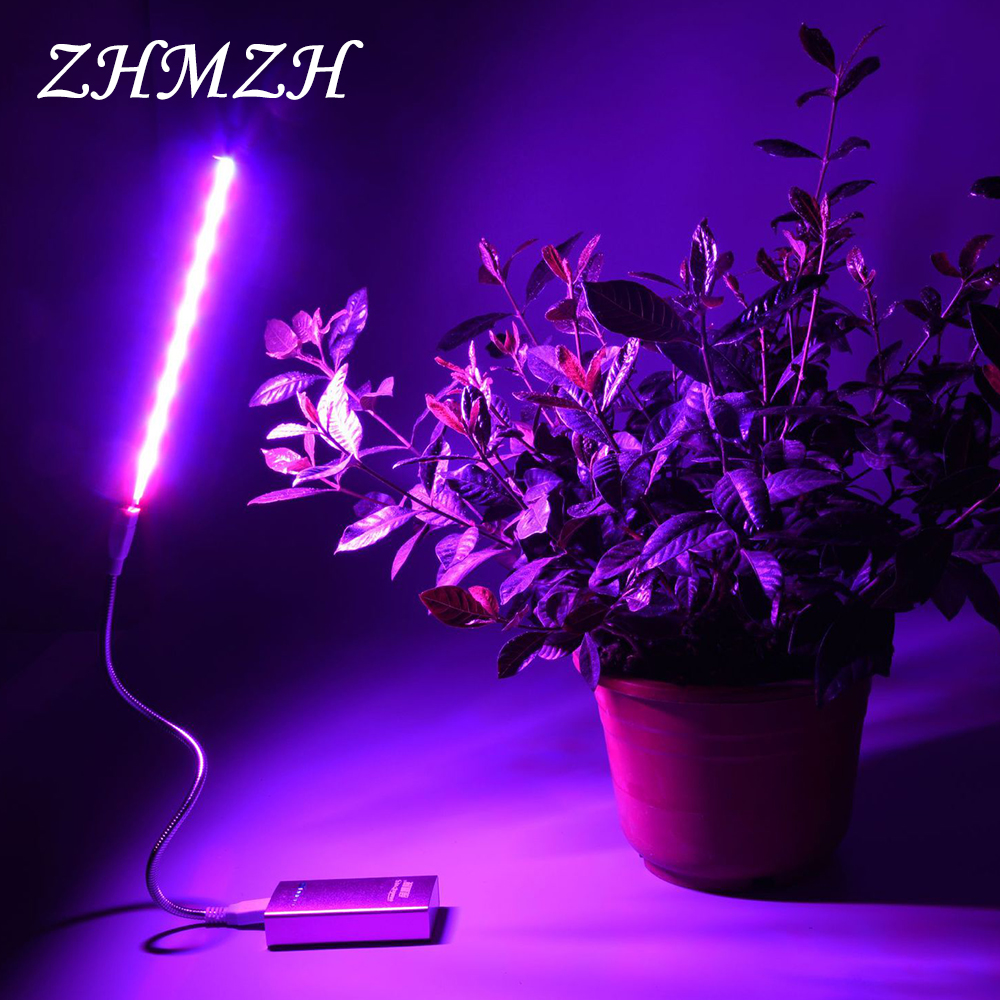 DC5V LED Plant Growing Lamp USB Red Blue Hydroponic Grow Light 2.5W 4.5W Portable Convenient LED Full Spectrum Phyto Growth Lamp