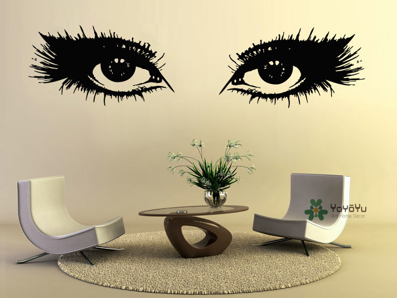 Online Buy Wholesale Eye Decals From China Eye Decals Wholesalers - Wall decals eyes