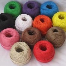 1 шт.(100 м) 12 цветов конопли cord100m/мяч, вощеная пенька шпагат, пеньковый шпагат шнур пеньковая веревка используется во всех видах упаковки по EMS