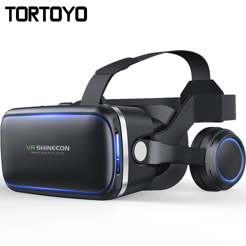 Shinecon VR 4 0 3D Virtual Reality Glasses Head Mount Helmet VR Box with HIFI Earphone